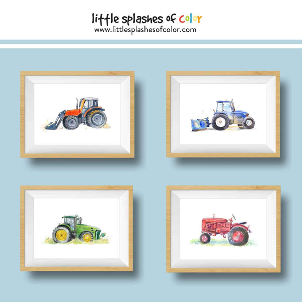 (Wholesale) Blue Tractor Print