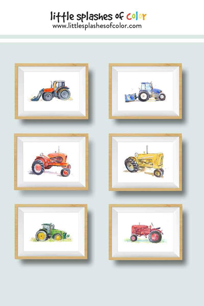 tractor wall art prints