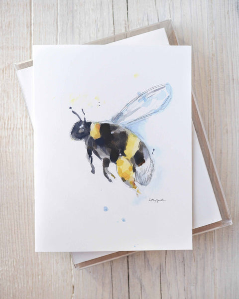 (Wholesale) Set of Assorted Bee Greeting Cards