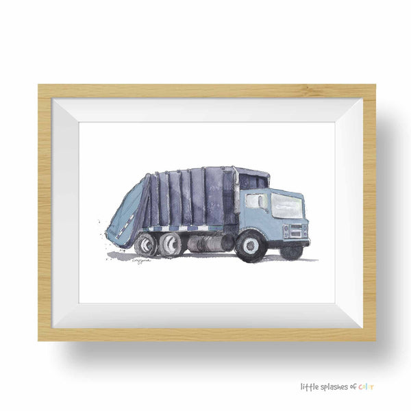 garbage truck printable