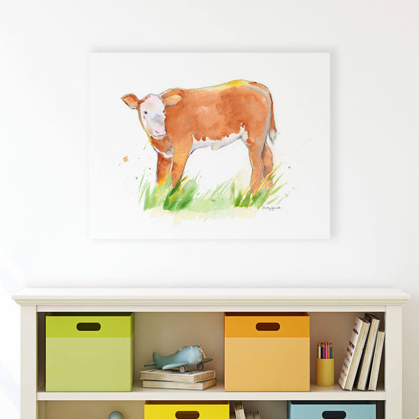 Hereford Cow Canvas Wall Decor