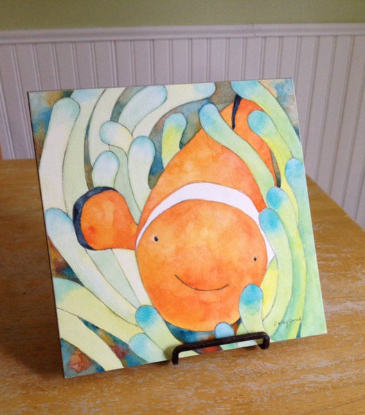 Clown Fish Watercolor Print