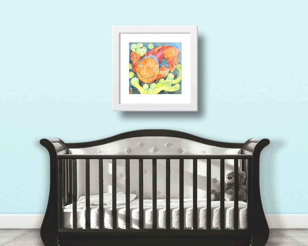 Orange Clown Fish Kids Decor