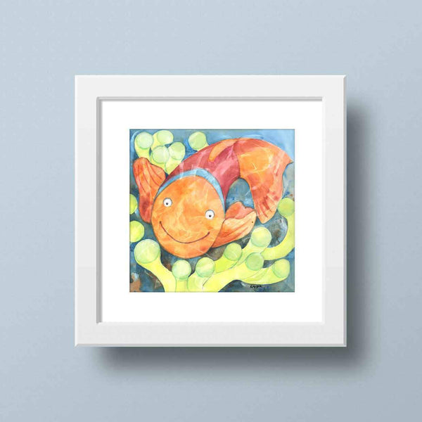 clown fish bathroom decor