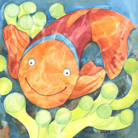 Clown Fish watercolor painting