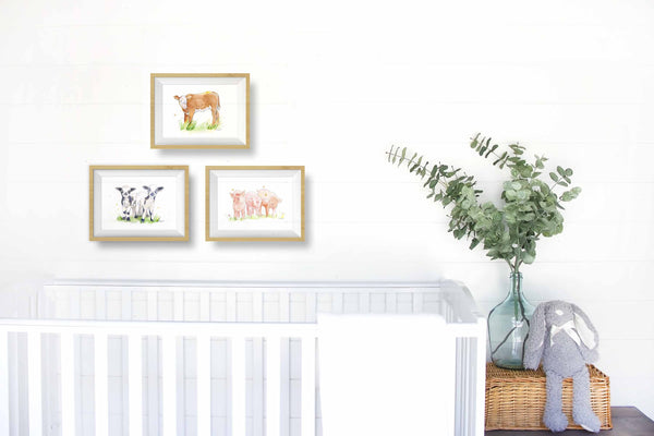 pig printable nursery wall art