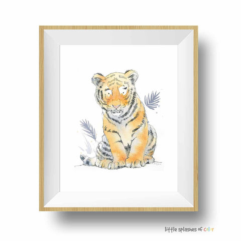 baby tiger print for safari nursery