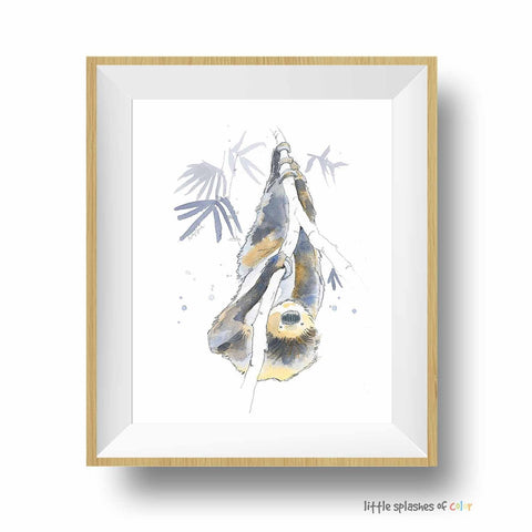 baby sloth print for kids room