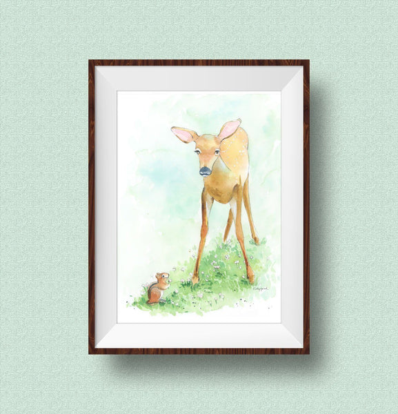 woodland creatures wall art