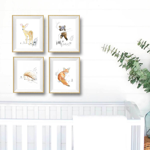 woodland animal nursery decor