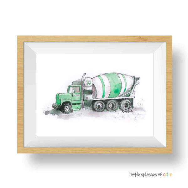 cement mixer truck printable