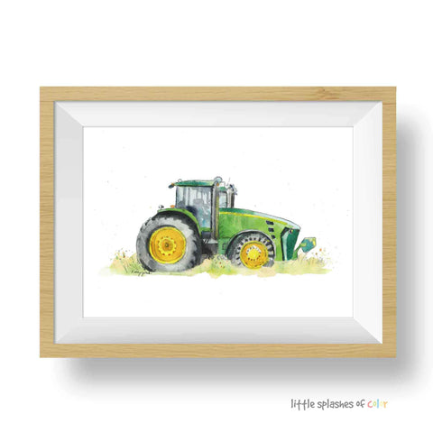 Green Tractor Print #1 (download)