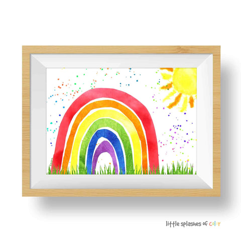 Sun & Rainbow Printable (download)