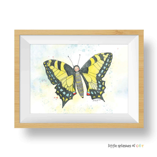 butterfly nursery wall art