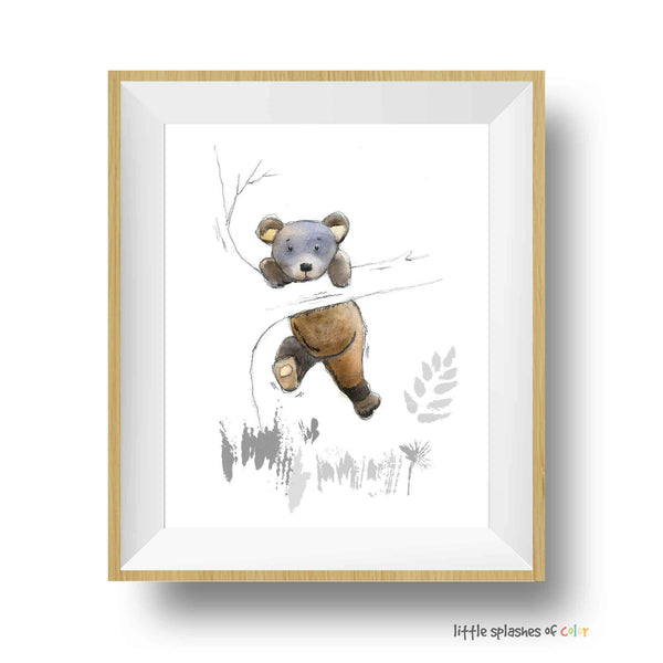 Baby Bear Nursery Art