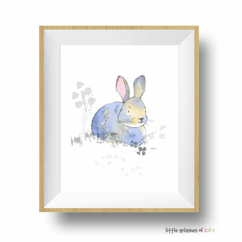 bunny nursery art