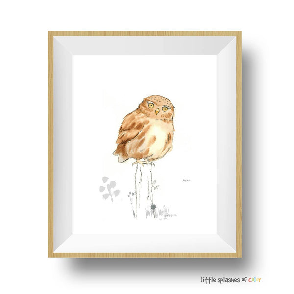 owl nursery wall art