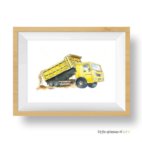 Yellow Dump Truck Printable #3