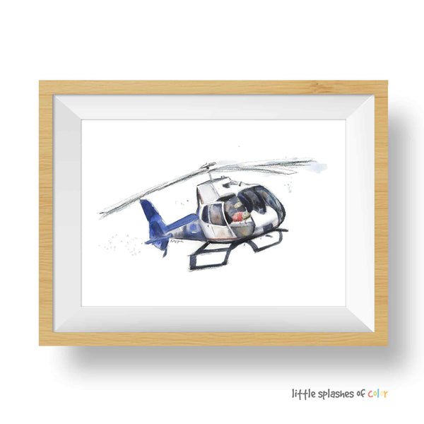 helicopter print for boys room