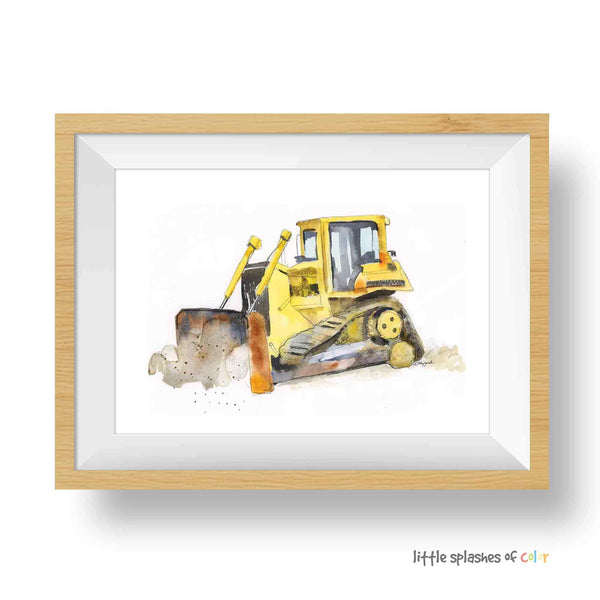 bulldozer truck printable