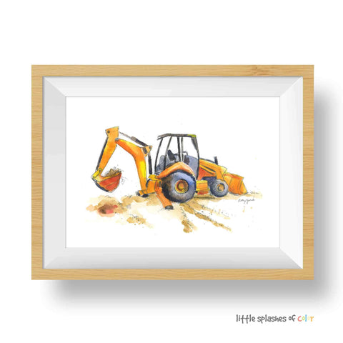 Backhoe Printable