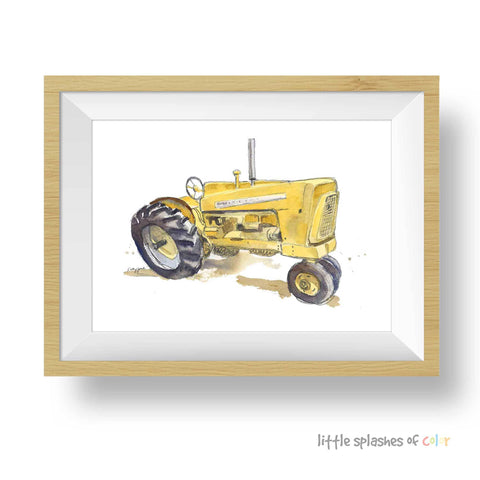 yellow tractor printable
