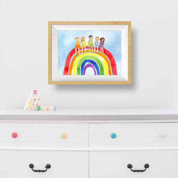 printable rainbow picture free