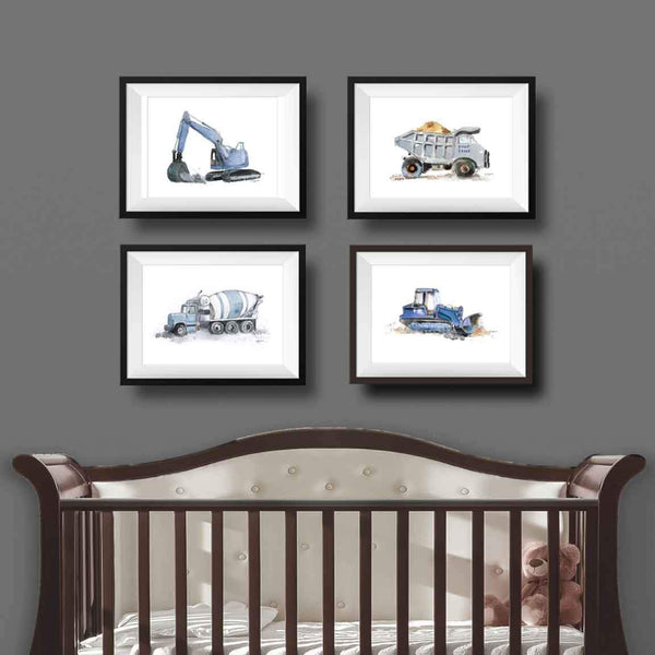 printable construction nursery art