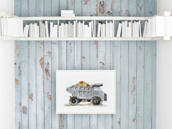 dump truck wall decor