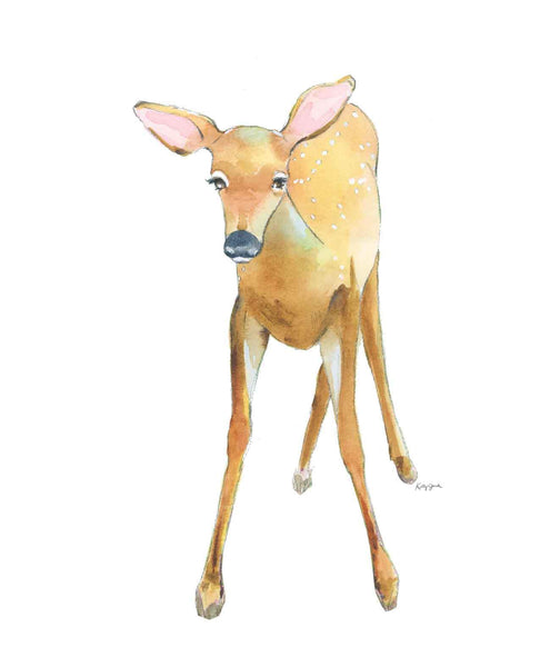 children's fawn wall art