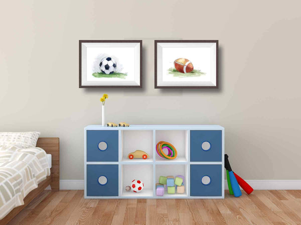 football soccer nursery art