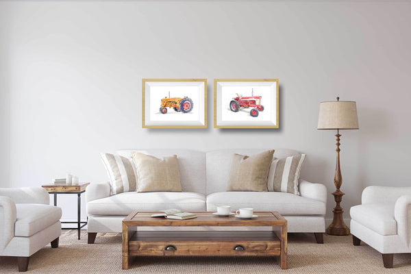 Red Tractor Print #3