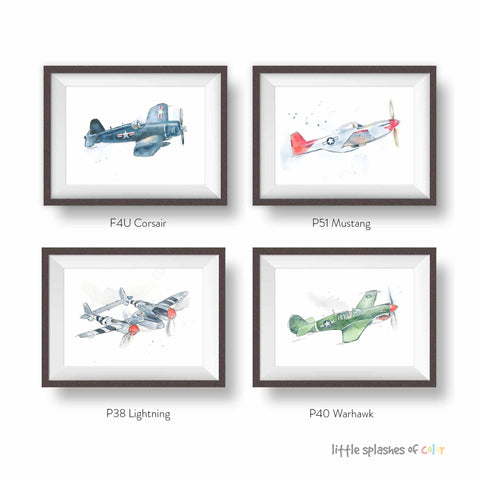 Vintage Airplane Prints for boys room