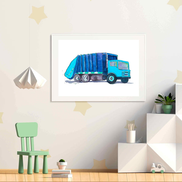 garbage truck nursery art