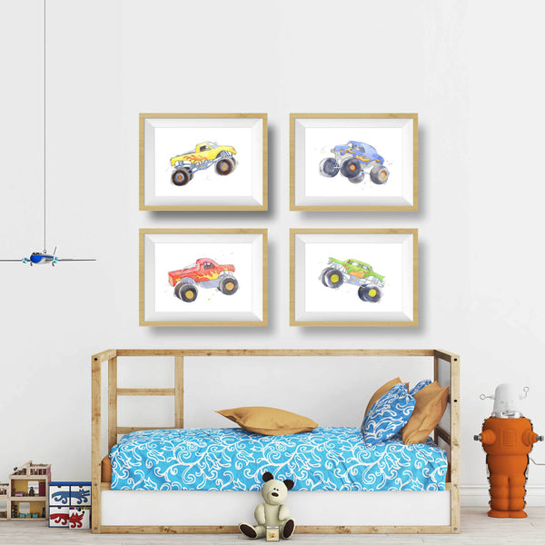 monster truck prints