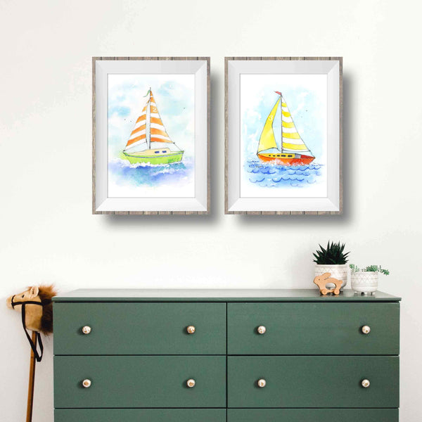 printable nautical nursery boy