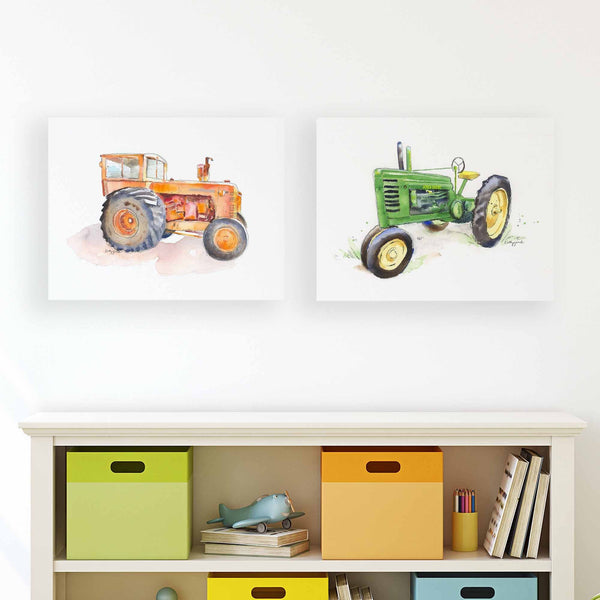 tractor canvas prints for kids room