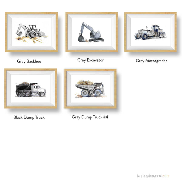 blue gray truck printables boys room