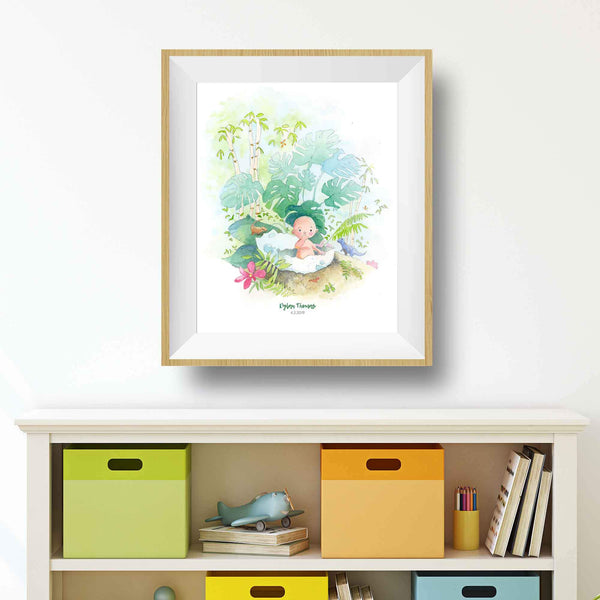 Baby Jungle Safari Print