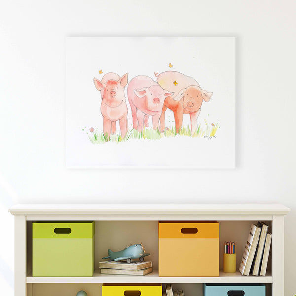 three little pigs printable wall art