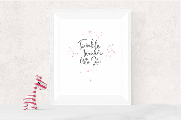 twinkle twinkle little star wall art