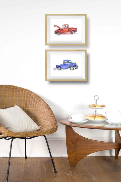 Little Blue Truck Art Print
