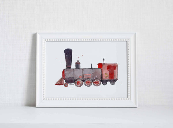 children's train wall decor