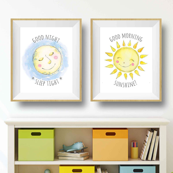 Sun and Moon - Set of 2 Printables (download)