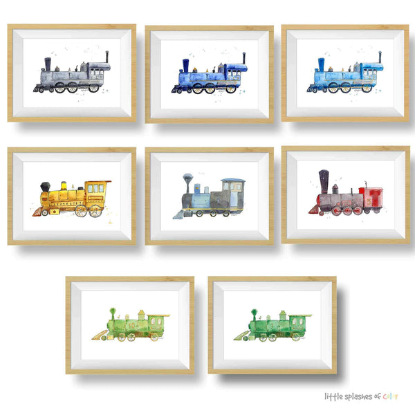 children's train wall art