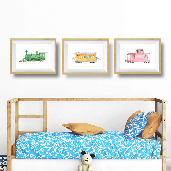 colorful nursery wall art