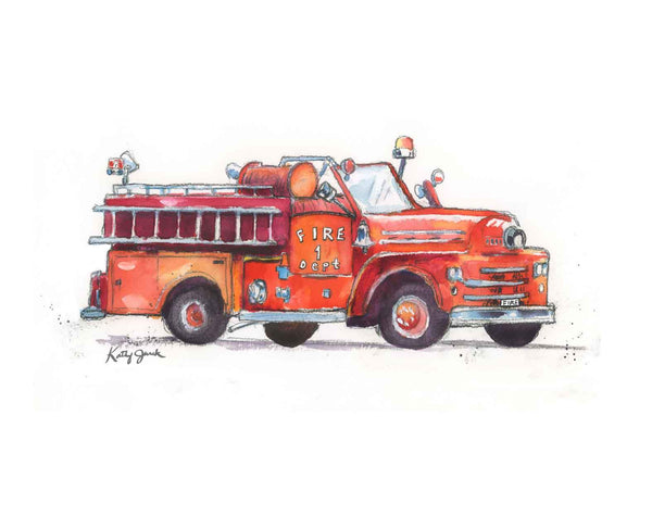 fire truck decor for boys room