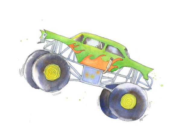 Monster truck wall decor