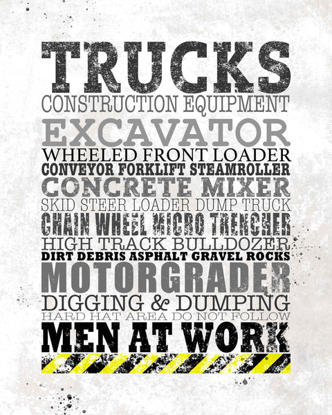Construction Typography Poster