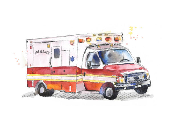 ambulance art for boys room